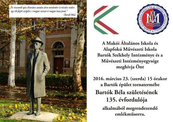 Bartók évforduló